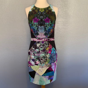 Nicole Miller Digital Jewel Mesh Formal Dress